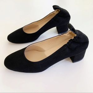 Everlane Black Suede Day Heel